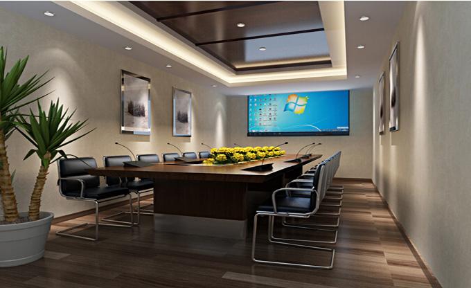 金思维装饰 办公室装修设计效果图 小型办公室装修效果图  设计师:刘