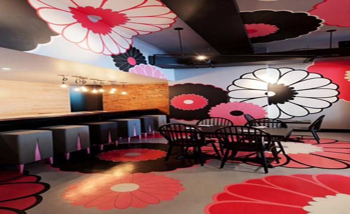 青岛晶采轩简约餐厅装修设计