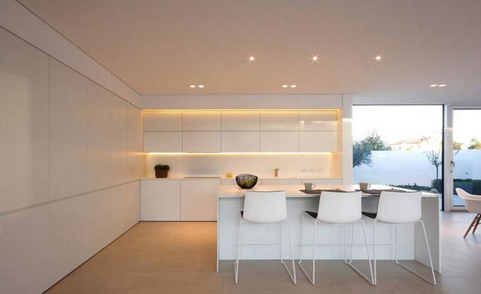 别墅内部装修-厨房吧台