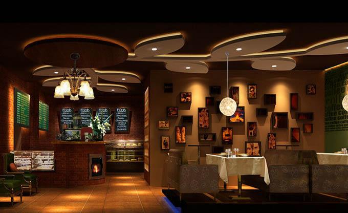 中式复古咖啡厅的色彩搭配图片