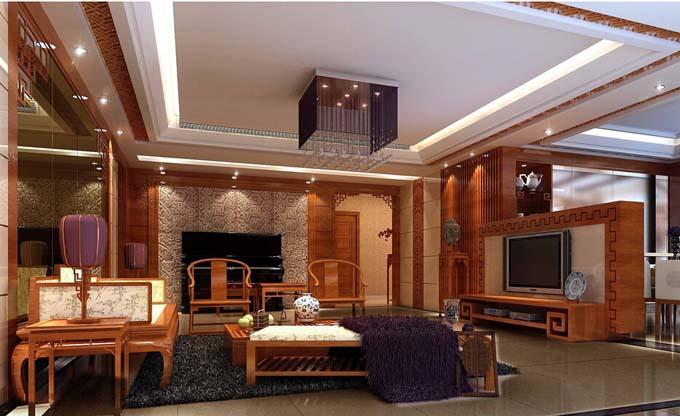 2016新中式客厅装修玉雕