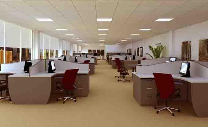 一、办公室前台设计整体布局规划 公司前台是体现公司形象的门户所在,客户和生意伙伴的第一印象从前台开始,因此前台装修绝对不能轻率应付。无论公司的办公室设计风格是什么样子,在前台一眼就能分辨开来。不同风格的前台设计的因素以外,材质的使用是影响最大的因素。因此从设计到装修施工,既要把握整体风格,还要紧跟装饰材料的不放松。