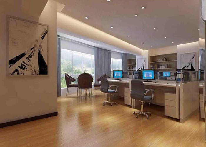 小型办公室装修设计公司【软装隔断让小型办公室空间
