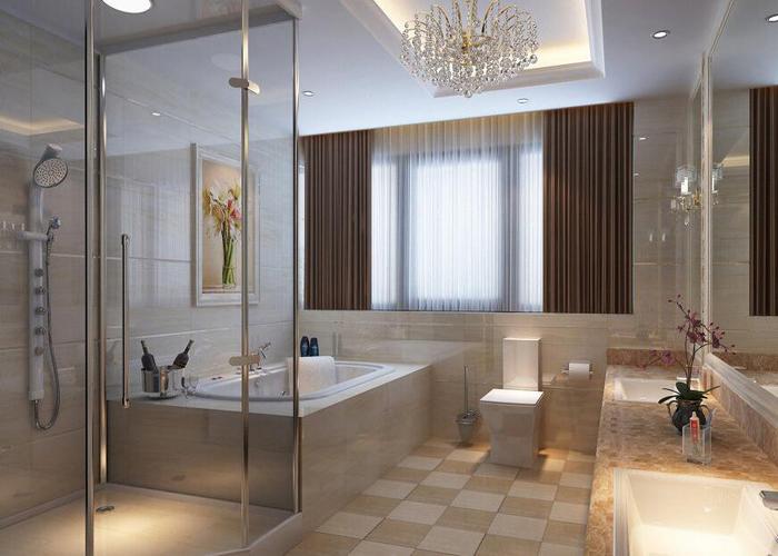 酒店淋浴间装修设计中瓷砖的选择【卫生间装修可以】