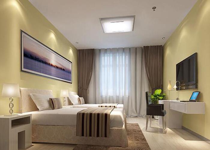 广州快捷酒店装修设计公司金思维装饰—情侣快捷酒店装修一间房间需要