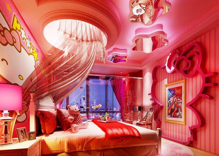 hello kitty情侣主题酒店房间设计效果图.jpg