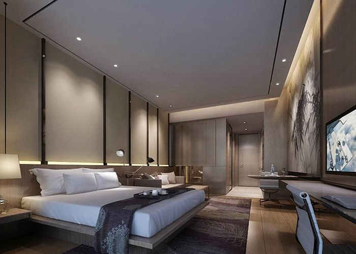 金思维装饰,专业的商务酒店装修设计公司,提供一站式的服务,设计+工程+主材+软装全包,免费提供商务酒店装修效果图,商务酒店设计方案,免费咨询热线:135-3525-0007 目前中国消费文化呼吁更多酒店的兴起, 但同时高星级酒店数量过剩, 星级建立构造不可理, 趋于大同等问题成为酒店恶性剧烈竞争的本源。只要建立与众不同的特征酒店, 树立品牌才干在竞争中制胜。本文运用特征酒店及酒店设计的理论就特征商务酒店的设计给出一些倡议和想象。  一、竞争呼吁特征酒店的兴起 要想在众多酒店中脱颖而出,吸收并构成稳定的客源