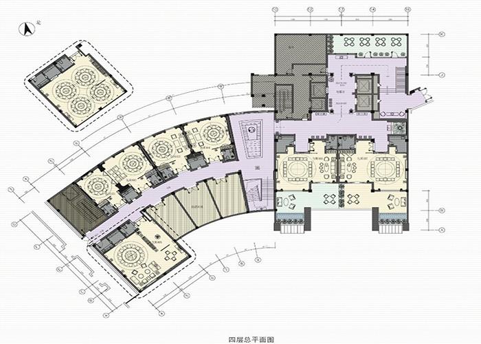 精品酒店一层平面设计效果图