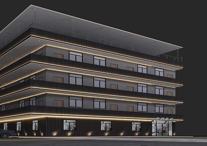 广州长洲有间客栈宾馆装修设计案例