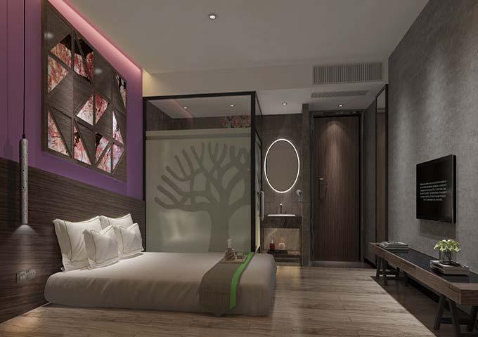 梅州五华华源宾馆设计装修项目